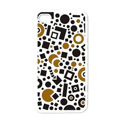 Black Versus Brown Apple Iphone 4 Case (white) by TimelessDesigns