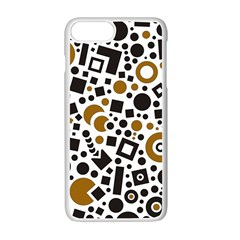 Black Versus Brown Apple Iphone 7 Plus Seamless Case (white) by FEMCreations