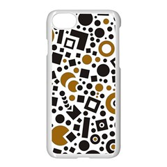 Black Versus Brown Apple Iphone 8 Seamless Case (white)