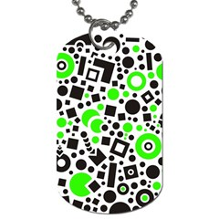 Black Versus Green Dog Tag (two Sides)