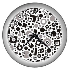 Black Versus Grey Wall Clock (silver)