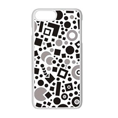 Black Versus Grey Apple Iphone 7 Plus Seamless Case (white) by FEMCreations