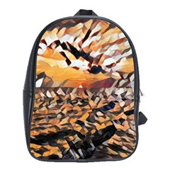 Sunset On The Sea School Bag (xl) by StarvinArtisan