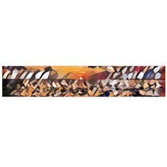Sunset On The Sea Large Flano Scarf