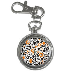 Black Versus Orange Key Chain Watches