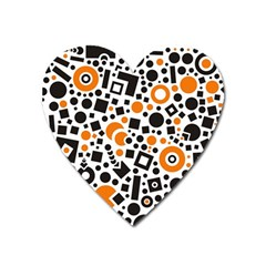 Black Versus Orange Heart Magnet by TimelessDesigns