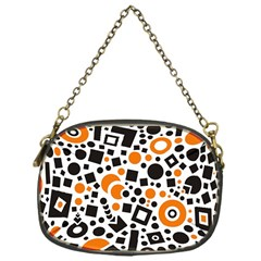 Black Versus Orange Chain Purse (one Side) by FEMCreations