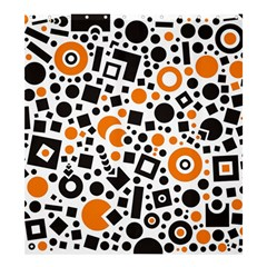 Black Versus Orange Shower Curtain 66  X 72  (large)  by TimelessDesigns