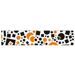 Black Versus Orange Small Flano Scarf by FEMCreations