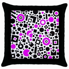 Black Versus Pink Throw Pillow Case (black)