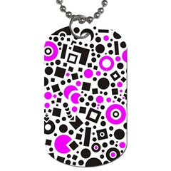 Black Versus Pink Dog Tag (two Sides)