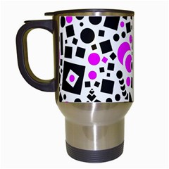 Black Versus Pink Travel Mugs (white)