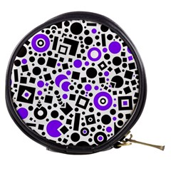 Black Versus Purple Mini Makeup Bag by TimelessFashion