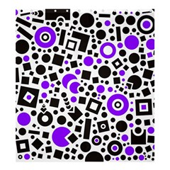 Black Versus Purple Shower Curtain 66  X 72  (large)