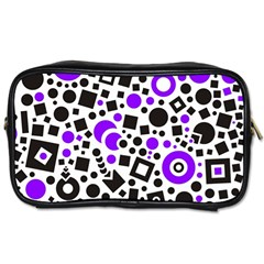 Black Versus Purple Toiletries Bag (two Sides)