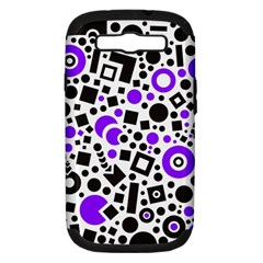 Black Versus Purple Samsung Galaxy S Iii Hardshell Case (pc+silicone)