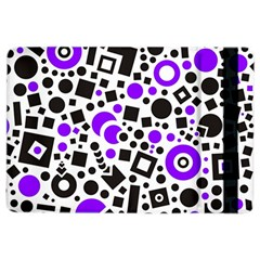Black Versus Purple Ipad Air 2 Flip by FEMCreations