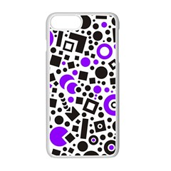 Black Versus Purple Apple Iphone 7 Plus Seamless Case (white) by FEMCreations