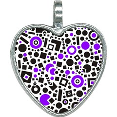 Black Versus Purple Heart Necklace by TimelessFashion
