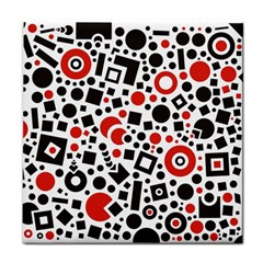 Black Versus Red Tile Coasters by FEMCreations