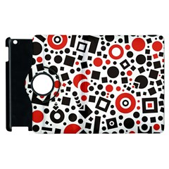 Black Versus Red Apple Ipad 3/4 Flip 360 Case