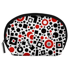 Black Versus Red Accessory Pouch (large) by TimelessFashion
