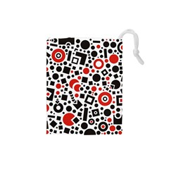 Black Versus Red Drawstring Pouch (small)