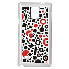 Black Versus Red Samsung Galaxy Note 4 Case (white)