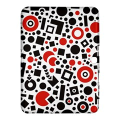 Black Versus Red Samsung Galaxy Tab 4 (10 1 ) Hardshell Case  by TimelessDesigns