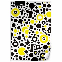 Black Versus Yellow Canvas 20  X 30  by TimelessDesigns