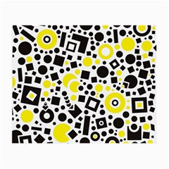 Black Versus Yellow Small Glasses Cloth (2 Side)