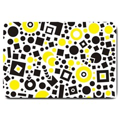 Black Versus Yellow Large Doormat