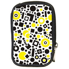 Black Versus Yellow Compact Camera Leather Case