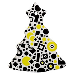 Black Versus Yellow Ornament (christmas Tree)  by TimelessDesigns