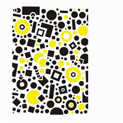 Black Versus Yellow Large Garden Flag (two Sides) by FEMCreations