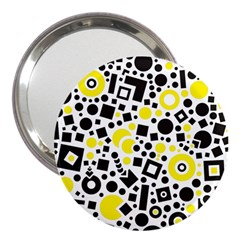 Black Versus Yellow 3  Handbag Mirrors by TimelessFashion