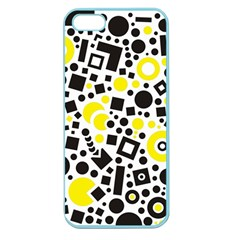 Black Versus Yellow Apple Seamless Iphone 5 Case (color)