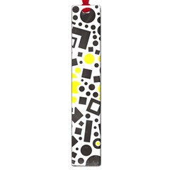 Black Versus Yellow Large Book Marks