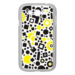 Black Versus Yellow Samsung Galaxy Grand Duos I9082 Case (white)