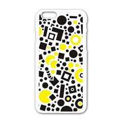 Black Versus Yellow Apple Iphone 6/6s White Enamel Case