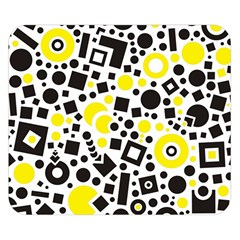 Black Versus Yellow Double Sided Flano Blanket (small)