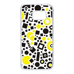 Black Versus Yellow Samsung Galaxy S7 White Seamless Case