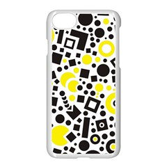 Black Versus Yellow Apple Iphone 8 Seamless Case (white)