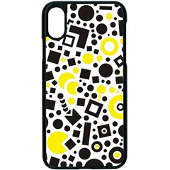 Black Versus Yellow Apple Iphone Xs Seamless Case (black) by TimelessDesigns