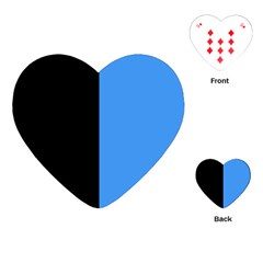 Black Blue Playing Cards (heart)