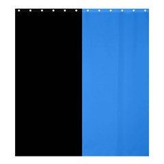 Black Blue Shower Curtain 66  X 72  (large)  by TimelessDesigns