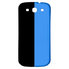 Black Blue Samsung Galaxy S3 S Iii Classic Hardshell Back Case by FEMCreations