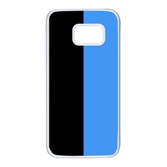 Black Blue Samsung Galaxy S7 White Seamless Case