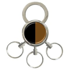 Black Brown 3 Ring Key Chains by TimelessFashion