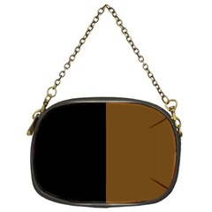 Black Brown Chain Purse (one Side) by TimelessFashion